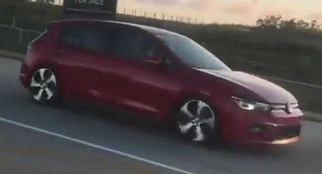 Novo Golf 2020 Mk8: suposto exemplar flagrado em  vídeo